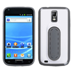 Insten - Stand TPU Rubber Candy Skin Case Cover Compatible with Samsung Galaxy S2 Hercules SGH-T989 (T-Mobile) - White / Gray