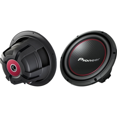 Pioneer - Champion TS-W254R Woofer - 250 W RMS/1100 W Pmpo - Black, Red
