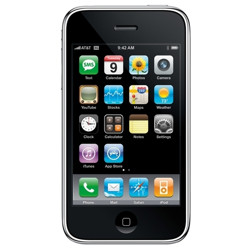 Apple iPhone 2G MA712LL/A 8GB Smartphone - 2.5G - LCD 480 x 320 - 2 Megapixel Rear - Mac OS X 10.4.8 - AT & T - Black - Bar - 1 SIM Support - 8 Hour Talk Time - 250 Hour Standby Time