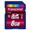 Transcend - 8 GB Secure Digital High Capacity (SDHC) - 1 Card/1 Pack