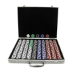 Trademark Global - Trademark Poker 1000 Chips 11.5g Royal Suited Set with Aluminum Case
