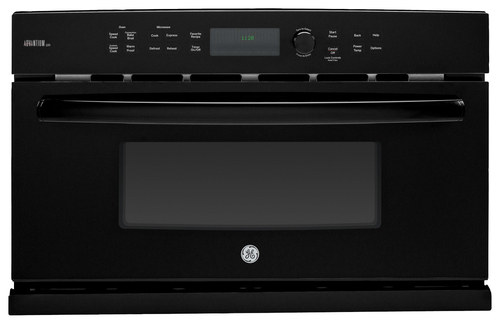 GE - Profile Series Advantium 120V 1.7 Cu. Ft. Built-In Microwave - Black-on-Black