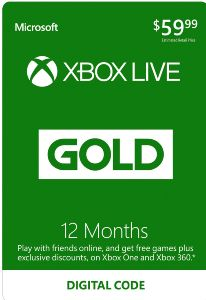Xbox LIVE Prepaid 12 Month Gold Membership Card   Xbox LIVE [Digital  Download Add