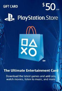 $50 Playstation Network Gift Card - Playstation 4 [digital Download Add-on] Deal