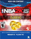 NBA 2K15 75,000 Virtual Currency - PlayStation 4 [Digital Download Add-On]