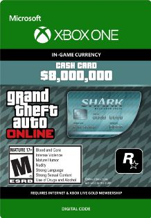 Grand Theft Auto Online The Megalodon Cash Card - Xbox One [Digital Download Add-On]
