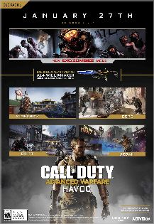 $15 Xbox Digital Gift Card - Call of Duty Advanced Warfare, Havoc - Xbox One [Digital Download Add-On]