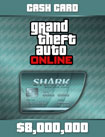 GTA Online The Megalodon Cash Card - Windows [Digital Download Add-On]