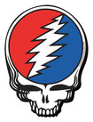 Aquarius - Grateful Dead Skull Logo Chunky Magnet - Red/White/Blue