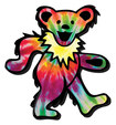 Aquarius - Grateful Dead Bear Logo Chunky Magnet - Green/Yellow/Blue/Purple/Red/Orange/Black