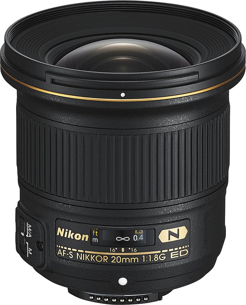 Nikon - AF-S NIKKOR 20mm f/1.8G ED Ultra Wide Angle Lens for Most Nikon F-Mount Cameras - Black