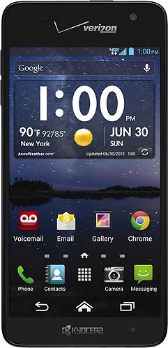 Kyocera - Hydro Elite 4G LTE Cell Phone - Black (Verizon Wireless)