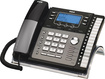 RCA - 25425RE1 Corded Expandable Phone System with Digital Answering System - Black/Gray