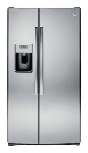 GE - Profile Series 28.4 Cu. Ft. Side-by-Side Refrigerator with Thru-the-Door Ice and Water - Stainless Steel