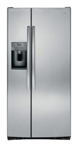GE - 22.5 Cu. Ft. Side-by-Side Refrigerator with Thru-the-Door Ice and Water - Stainless Steel