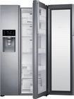 Samsung - 28.5 Cu. Ft. Side-by-Side Refrigerator with Thru-the-Door Ice and Water - Stainless-Steel