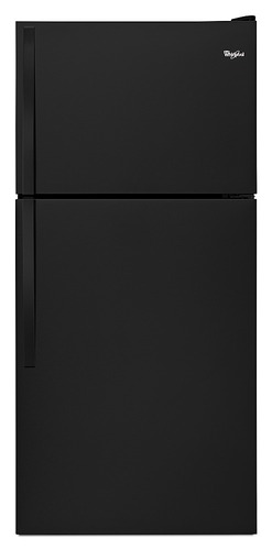 Whirlpool - 18.2 Cu. Ft. Top-Freezer Refrigerator - Black