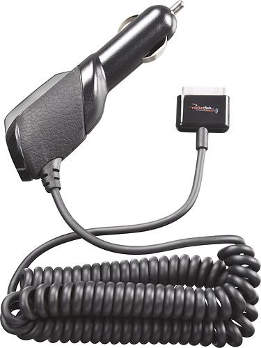 Rocketfish™ - Premium Vehicle Charger for Apple iPad, iPhone and iPod - Black