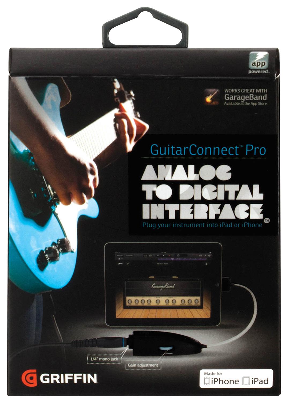 Griffin Technology - GuitarConnect Pro Guitar Input - Black