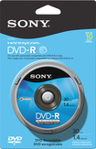 Sony - DVD Recordable Media - DVD-R - 1.40 GB - 10 Pack Spindle - Blue/Black