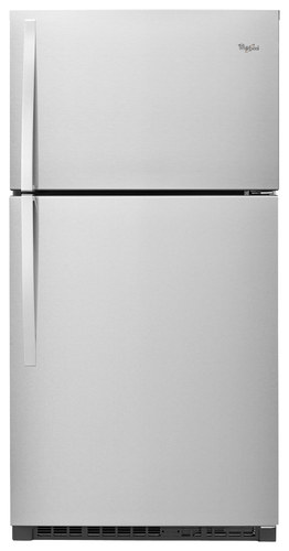 Whirlpool - 21.3 Cu. Ft. Top-Freezer Refrigerator - Monochromatic Stainless Steel