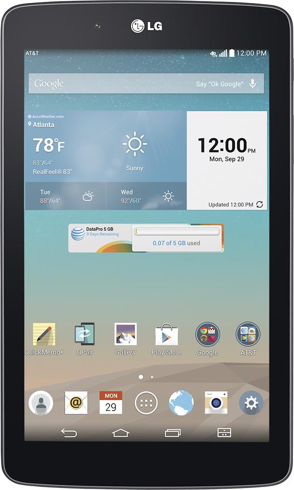 """LG - G Pad 7.0 - 7"""" - 16GB - Black (AT&T)"""