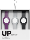 Jawbone - Straps for Jawbone UP MOVE Activity Trackers (3-Count) - Onyx/Grape/Fog