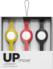 Jawbone - Slim Straps for Jawbone UP MOVE Activity Trackers (3-Count) - Onyx/Yellow/Ruby