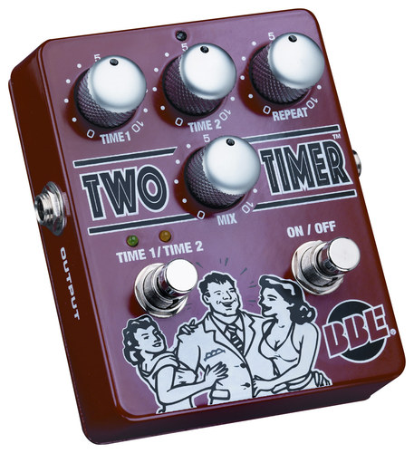 BBE Sound - Two Timer Delay Pedal for Most Electric and Bass Guitars - Red