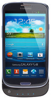 Lenmar - Pulsar Battery Case for Samsung Galaxy S III Cell Phones - Glossy Black