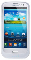 Lenmar - Halo Battery Case for Samsung Galaxy S III Cell Phones - Glossy White
