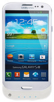 Lenmar - Pulsar Battery Case for Samsung Galaxy S III Cell Phones - Glossy White