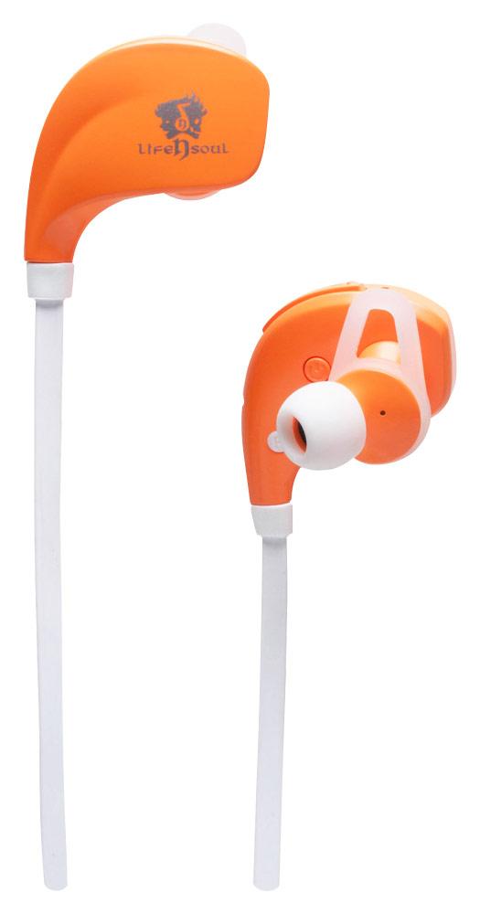 Life N Soul - Bluetooth Sports Earbud Headphones - Orange