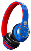 Life N Soul - Wireless Bluetooth Over-the-Ear Headphones - Blue/Red