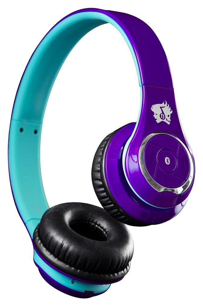 Life N Soul - Bluetooth Over-the-Ear Headphones - Purple/Blue