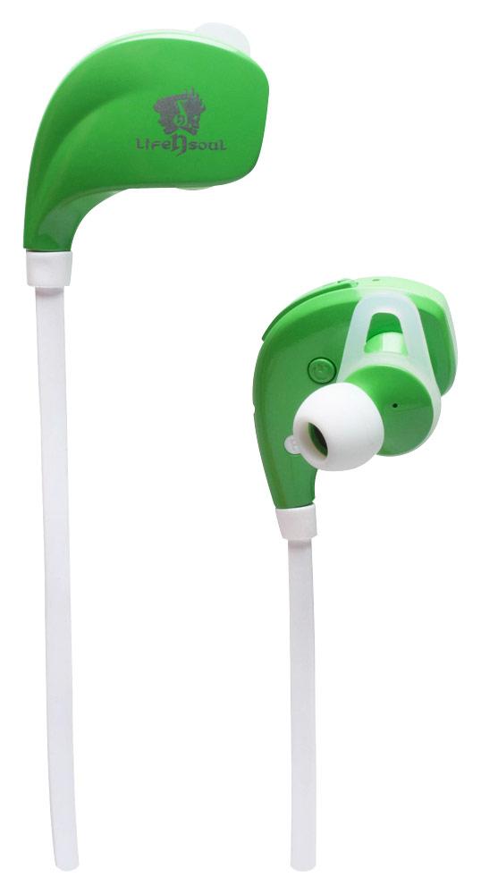 Life N Soul - Bluetooth Sports Earbud Headphones - Green