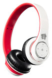 Life N Soul - Bluetooth Over-the-Ear Headphones - White/Red