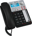 AT&T - Corded Speakerphone with Digital Answering System - Black/Silver