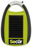 Secur - Mini Solar Cell Phone Charger - Green/Black