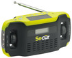 Secur - Digital Solar Radio with Flashlight - Green/Black