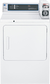 GE - 7.0 Cu. Ft. 3-Cycle Coin-Operated Electric Dryer - White