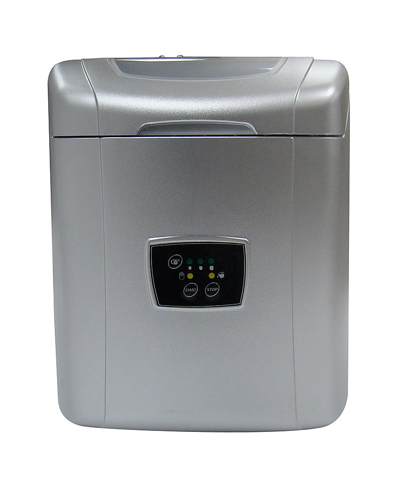 "Vinotemp - 12"" 26 lb. Freestanding Icemaker - Silver"