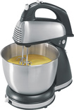 Hamilton Beach - 6-Speed Classic Hand/Stand Mixer - Silver