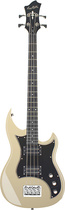 Hagstrom - Vintage Series 6-String Double-Cutaway Electric Bass Guitar - Cream