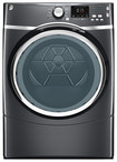 Ge - 7.5 Cu. Ft. 10-cycle Steam Electric Dryer - Diamond Gray