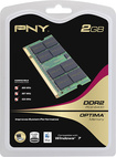 PNY - 2GB PC6400 DDR2 SoDIMM Laptop Memory - Multi