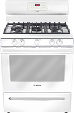 "Bosch - Evolution 300 Series 30"" Self-Cleaning Freestanding Gas Range - White"