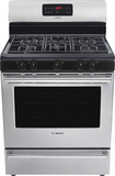 "Bosch - Evolution 300 Series 30"" Self-Cleaning Freestanding Gas Range - Silver"