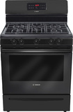 "Bosch - Evolution 300 Series 30"" Self-Cleaning Freestanding Gas Range - Black"