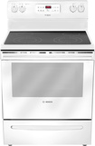"Bosch - Evolution 300 Series 30"" Self-Cleaning Freestanding Electric Range - White"